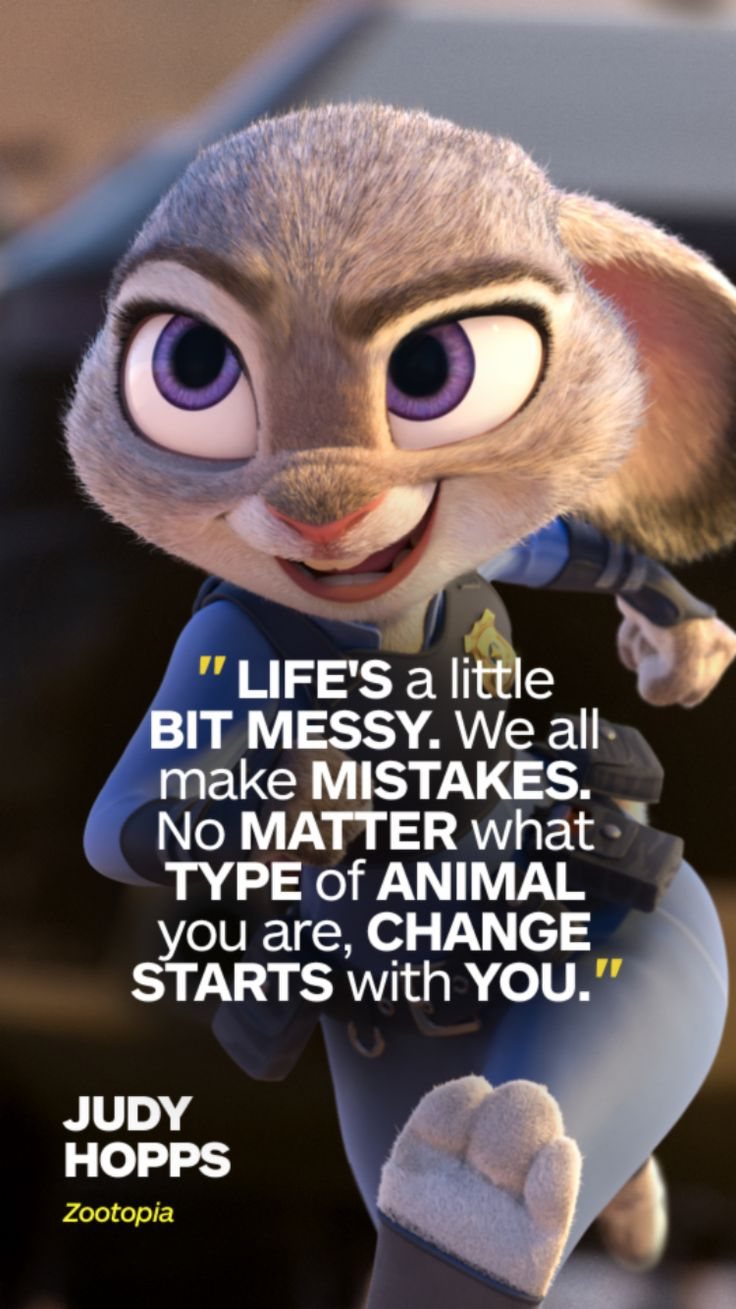 54 Facts About Disney Movies That Will Actually Blow Your Mind Judy Hopps From Zootopia quotes