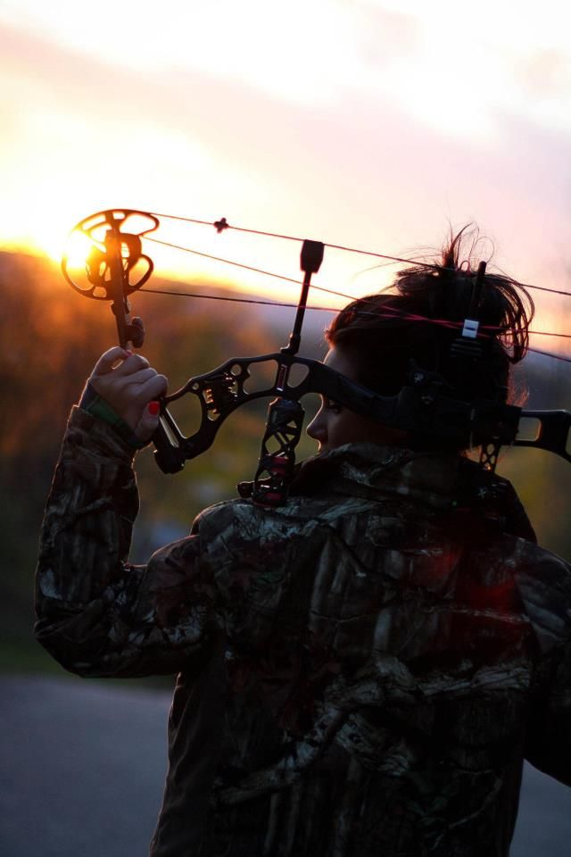 Hunt with a bow... although I prefer recurve and long bows, this is a nice shot. I like the light.