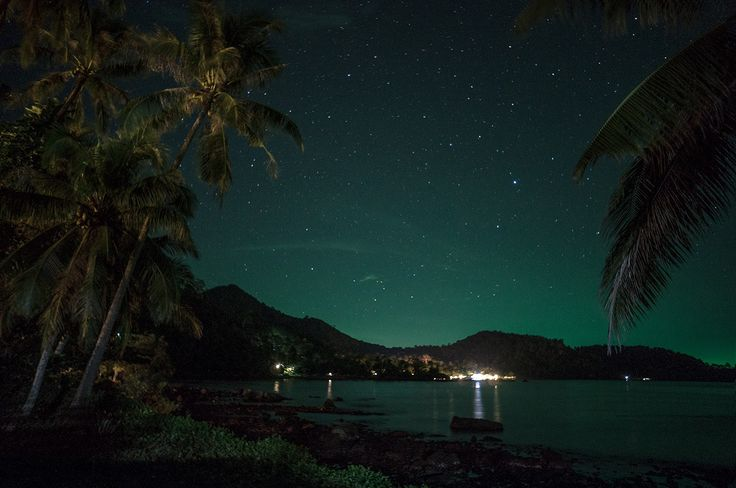 Koh Chang, Thailand, Asia  Stars over Koh Chang http://tinytrek.blogspot.fi/2015/10/eagle-has-landed-koh-chang.html
