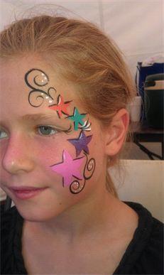 Star design. Image courtesy of Face My Paint, Salt Lake City, Utah.