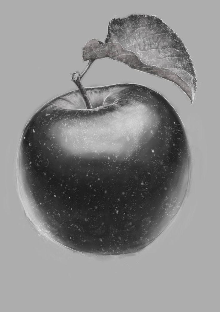 Apple, digital exercise, Cristina Forte on ArtStation at https://www.artstation.com/artwork/apple-digital-exercise