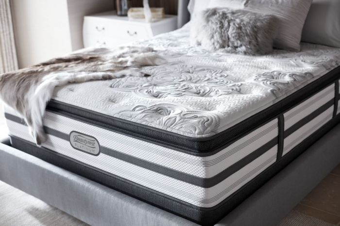 Queen Simmons Beautyrest Platinum Mcneil Plush Pillow Top Mattress Treasure Firm Pillows Beautyrest Mattress Mattress