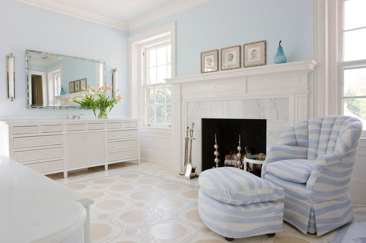 Fireplace tools bedroom traditional with white fireplace mantel blue and white