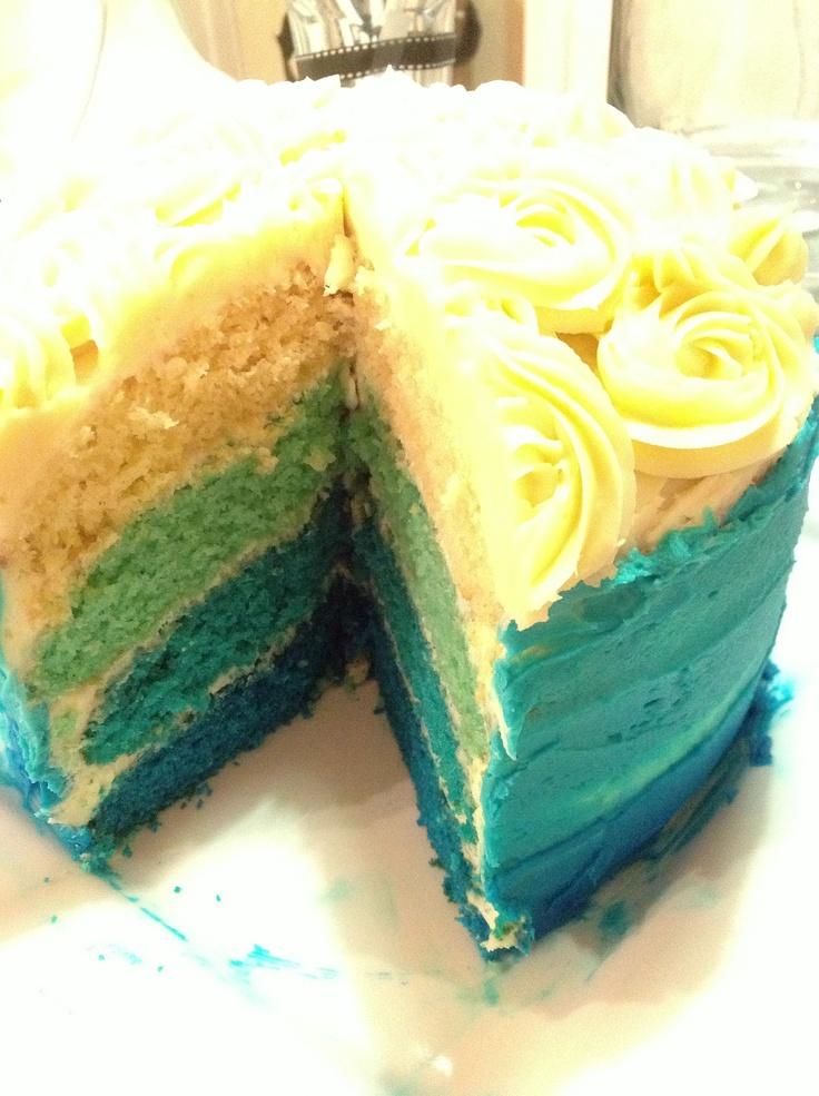 Blue ombré cake