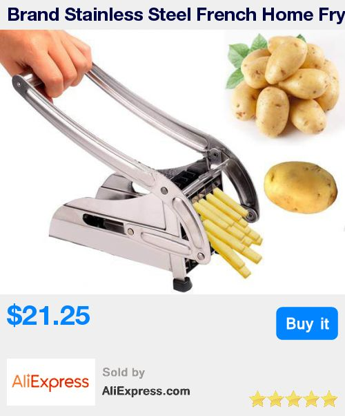 Brand Stainless Steel French Home Fry Fries Potato Chips Strip Cutting Cutter Machine Maker Slicer Chopper Dicer + 2 Blades * Pub Date: 18:44 Apr 14 2017