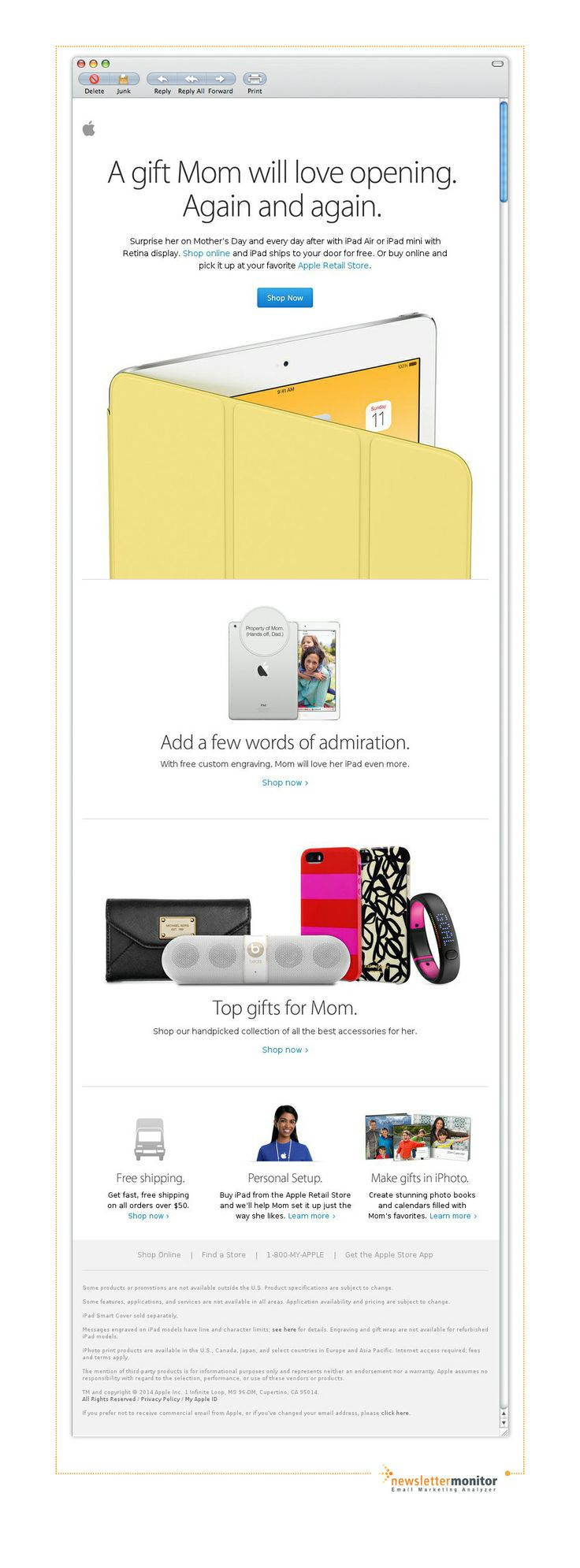 Brand: Apple | Subject: Make every day Mom's day.
