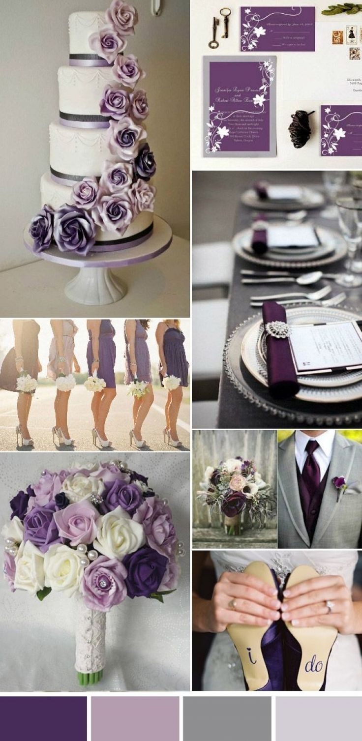 Best Purple And Grey Wedding Theme A Dream Whispered In The Wind