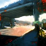 Grant Boland - .Water Street Overpass from Christina Parker Gallery (St. John's - several interesting artists there)