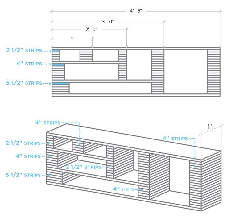 Les 25 meilleures id es concernant fabriquer un meuble tv - Fabriquer un meuble tv industriel ...