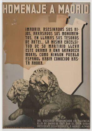 unknown. Homenaje a Madrid. 1937