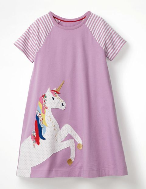 94c361e83 Our popular unicorn jersey dress is back with a versatile short-sleeved  version. The comfortable swing shape makes it easy to twirl effortlessly  from one ...
