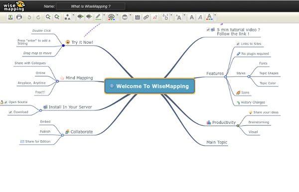 WiseMapping: creare mappe mentali in html5