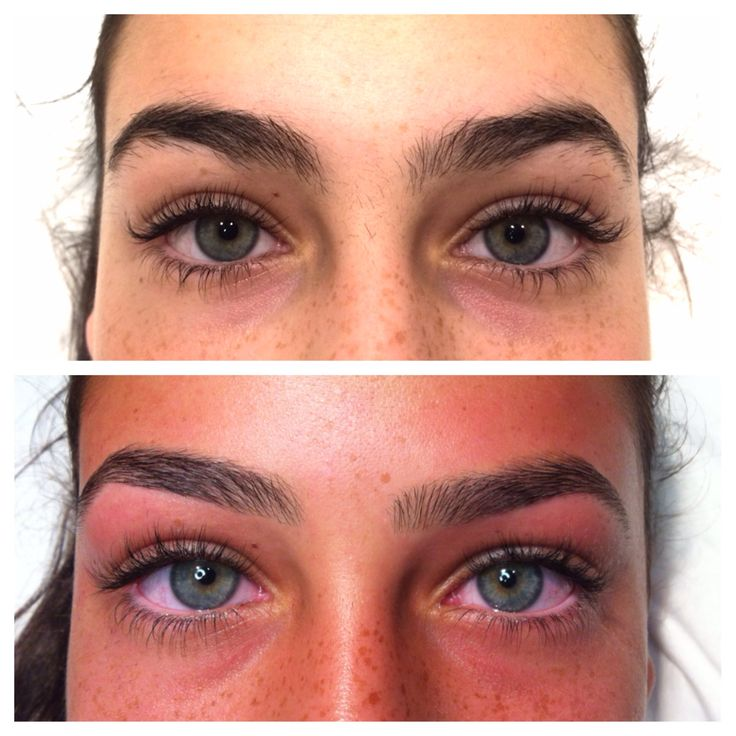 Eyebrow shaping - before and after