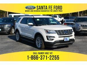 2017 White Platinum Metallic Tri-Coat Ford Explorer Limited 377591