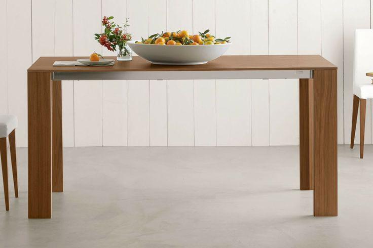 Tavolo allungabile Edra in legno noce canaletto   Napol.it
