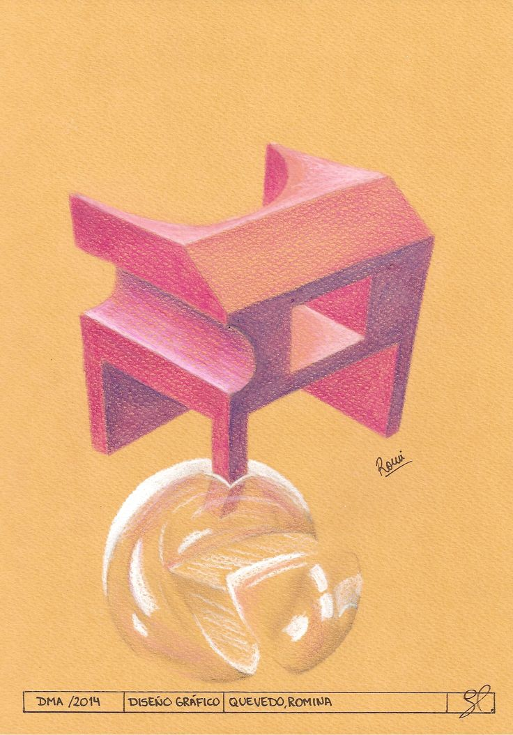Estudio de cuerpos prismáticos en el espacio.Construcción en base a cuatro puntos de fuga. Tratamiento de luz propia. Aplicación de cortes pasantes a cuerpos geométricos. Compuestos en el espacio. Prisma y una esfera. Intersección.
