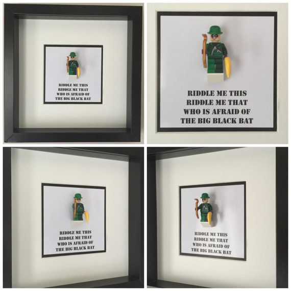 The Riddler Quote Minifigure Frame Mum Gift Geek by FigureThatBox