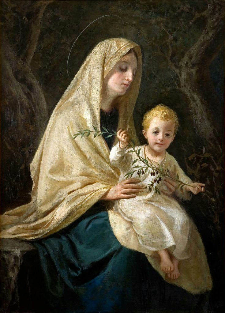 Madonna of White Mantle by David Beghè (1919)