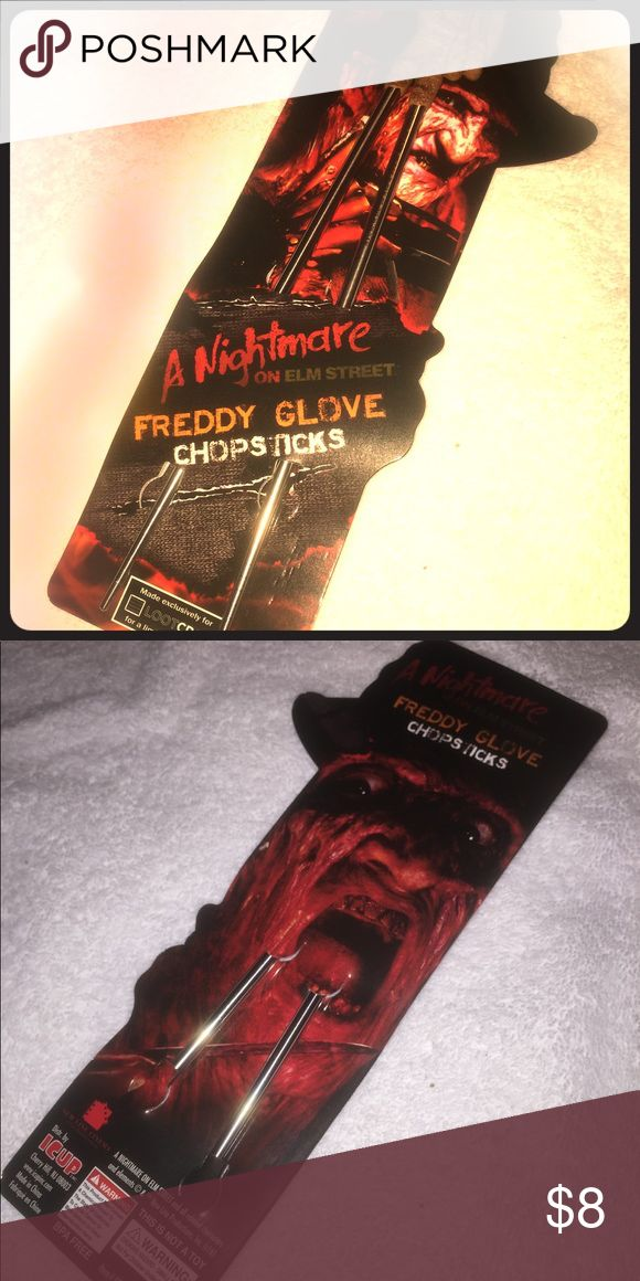 Friday the 13th Freddy chopsticks (Brand new) These are  brand new Friday the 13th Freddys chopsticks. A cool and creepy way to eat your sushi and sticky rice. Perfect for any Friday the 13th fan and the upcoming Halloween season. lootcrate Other