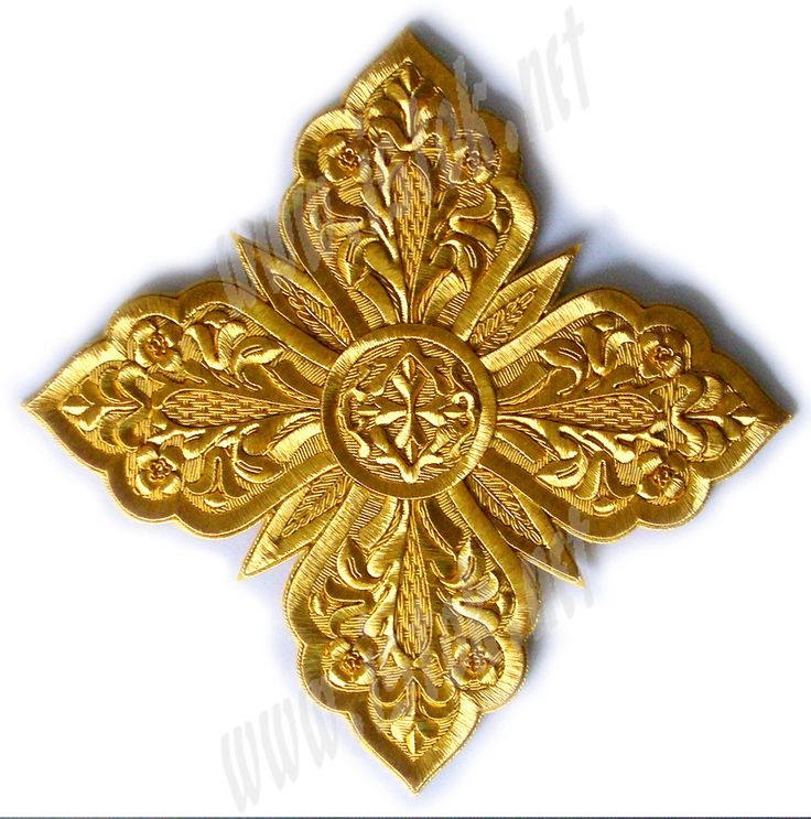 Hand-embroidered crosses - I-038 - Istok Church Supplies Corp.