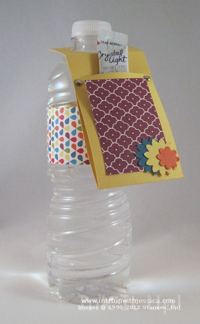 Decorate Water Bottles with Scrapbook Paper!