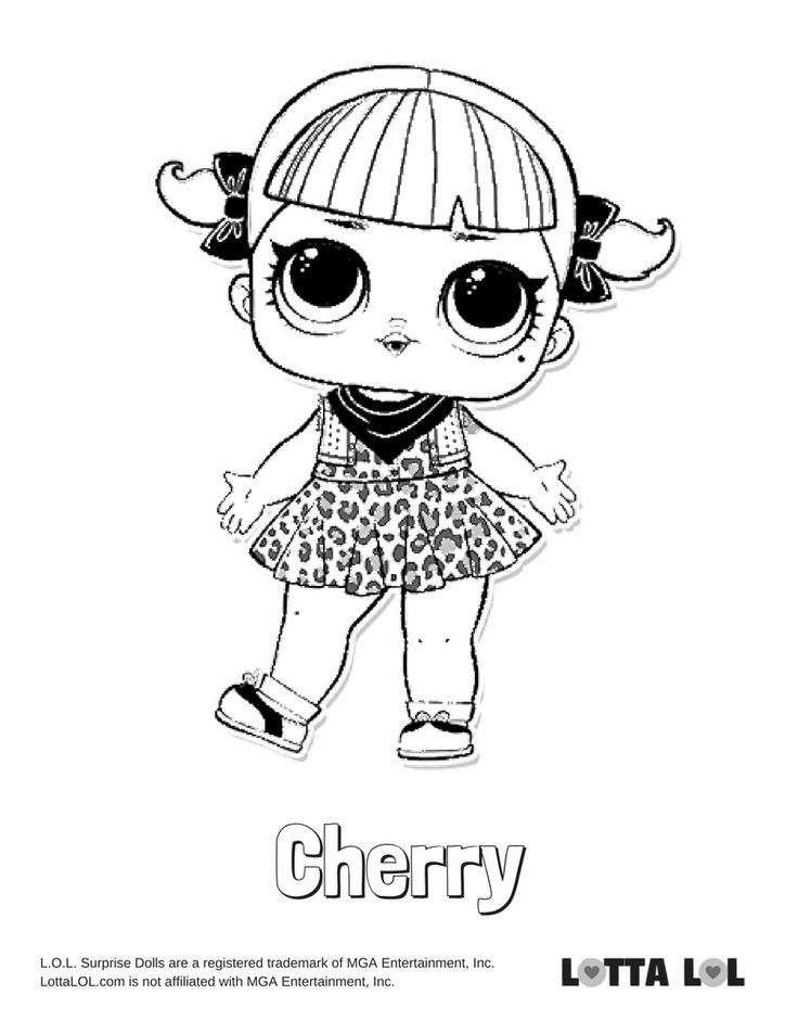 Cherry Coloring Page Lotta Lol Lol Surprise Series 2