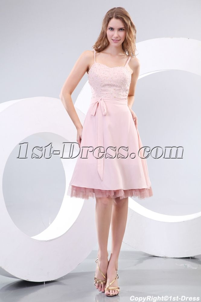 Champagne Short Graduation Dresses For 12 Year Olds 1st