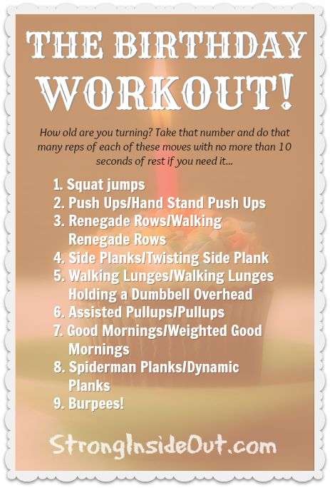 The Birthday Workout is the workout my personal training ...