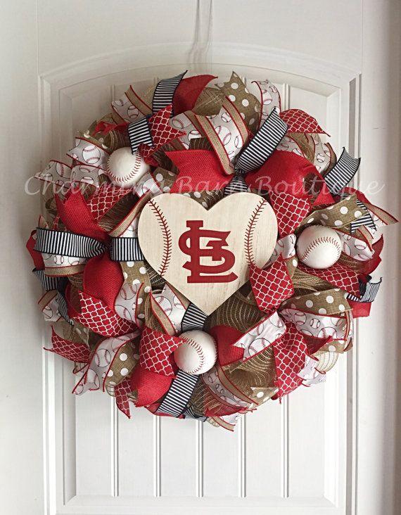 St.Louis Cardinals Wreath St.Louis by CharmingBarnBoutique on Etsy