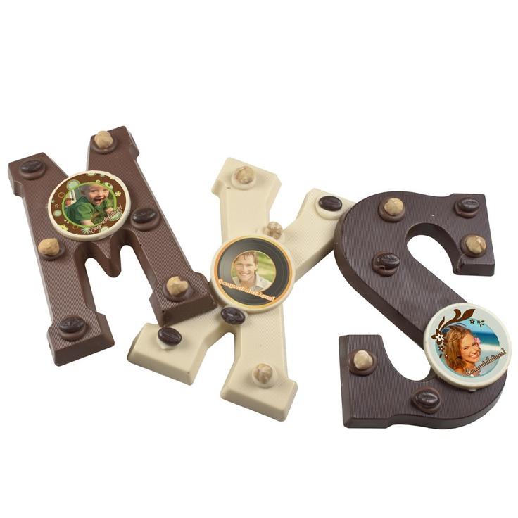 Chocolade letter met jouw foto.