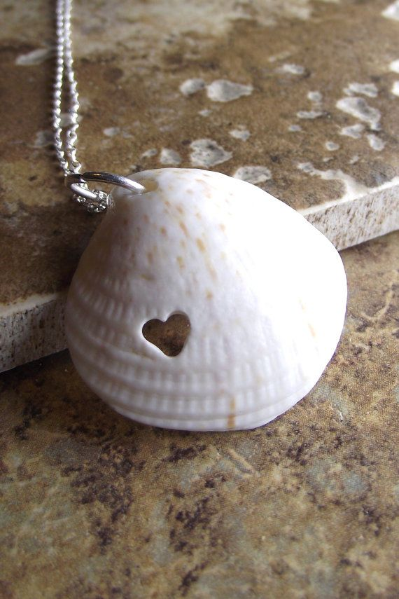 Sea shell with our hand carved heart