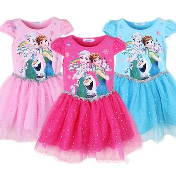 This Pretty Pink with Glitter and Elsa print is an perfect add on to any little princesses collection. Just one example of our quility children clothing range