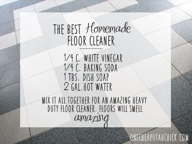 I've found the best floor cleaner around -- and it won't cost you hundreds of dollars. In fact, it will cost you less than $1.