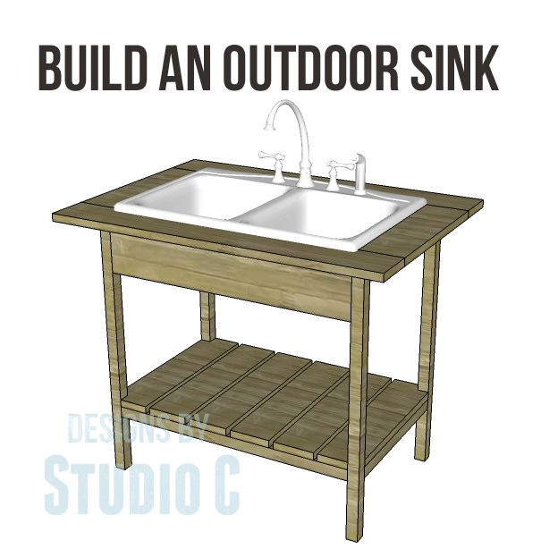 Construct a DIY Outdoor Sink Base Excellent for Quick and Easy Cleanups! I have wanted an outdoor sink for so long… Obviously, there are just some things I cannot clean in the kitchen sink &#…