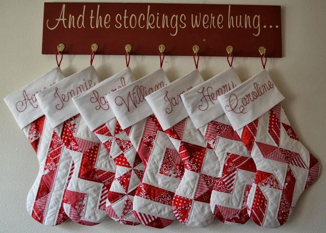 Porch Swing Quilts: Friday Finish: Stockings!