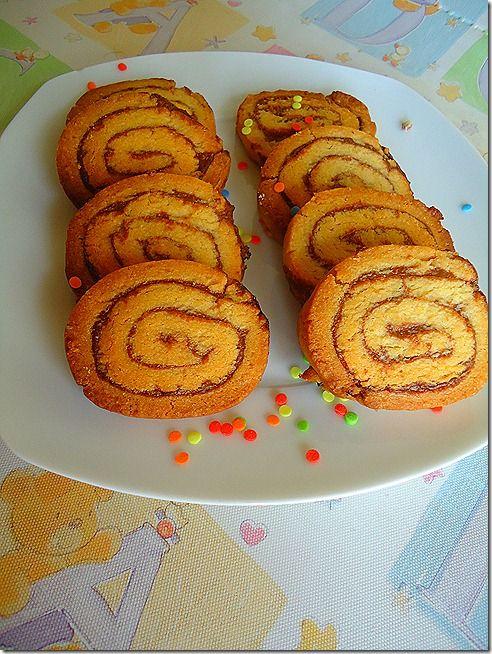 Μπισκότα βουτύρου με γέμιση μερέντα