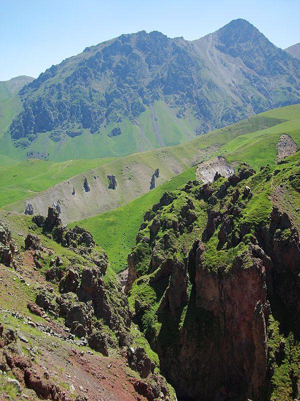 At the very beginning of the Malka River - Elbrus, Kabard-Balkaria. - Russia