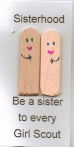 Sisterhood maybe make one for each girl (on a larger scale) and have them all sign it?