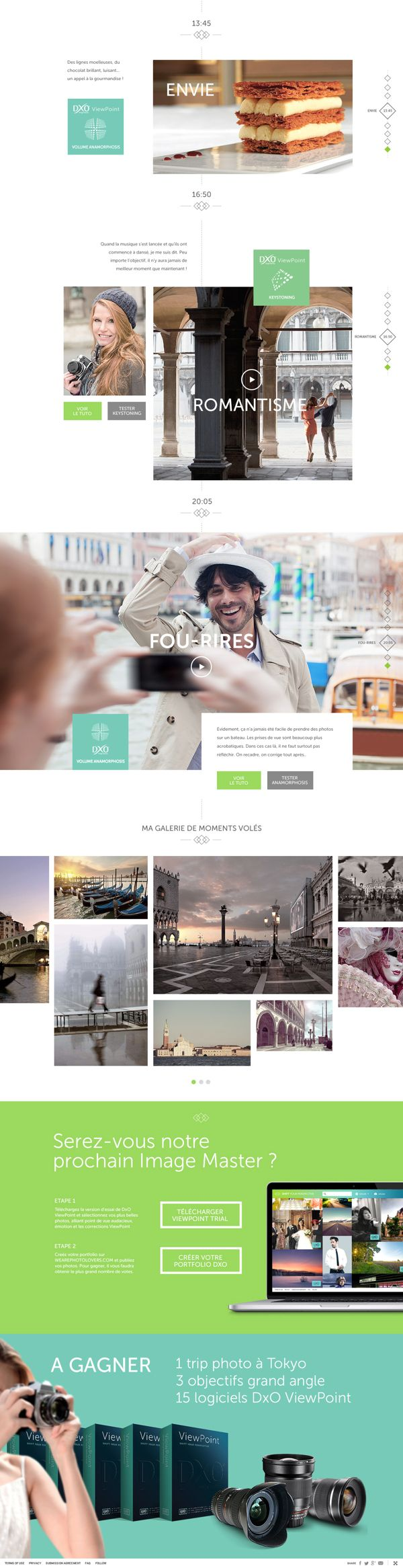 Beautiful photos and videos mixed with an amazing #webdesign, good job! DxO Labs by yul , via Behance