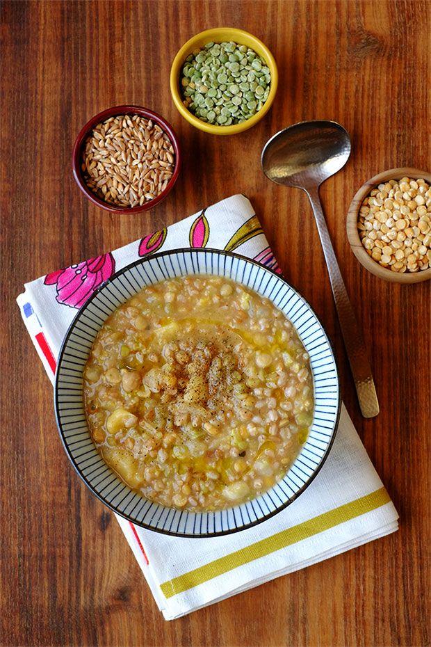 Zuppa di cereali e legumi con verza e finocchio - GranoSalis - Blog di cucina naturale e consapevole