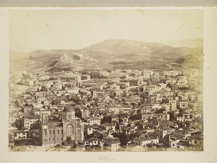 Athens. 1850-69 photographer: D Constantinidis developing-out paper, gelatin silver print 44.2 x 33.0 cm (page dimensions) 27.0 x 37.3 cm (image) Royal Collection Trust