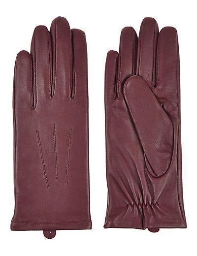 Leather Stitch Detail Gloves | M&S