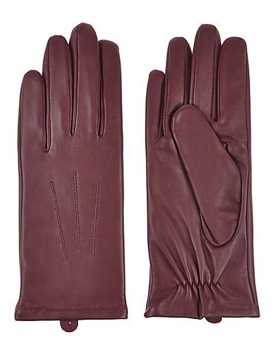 Leather Stitch Detail Gloves | M&S