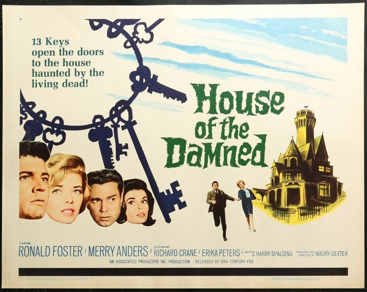 House of the Damned (1963) half sheet movie poster