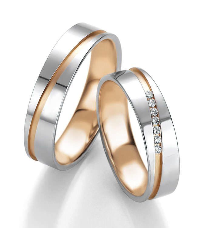 Wundervolle Eheringe aus Weißgold und Roségold. Lass euch inspirieren.