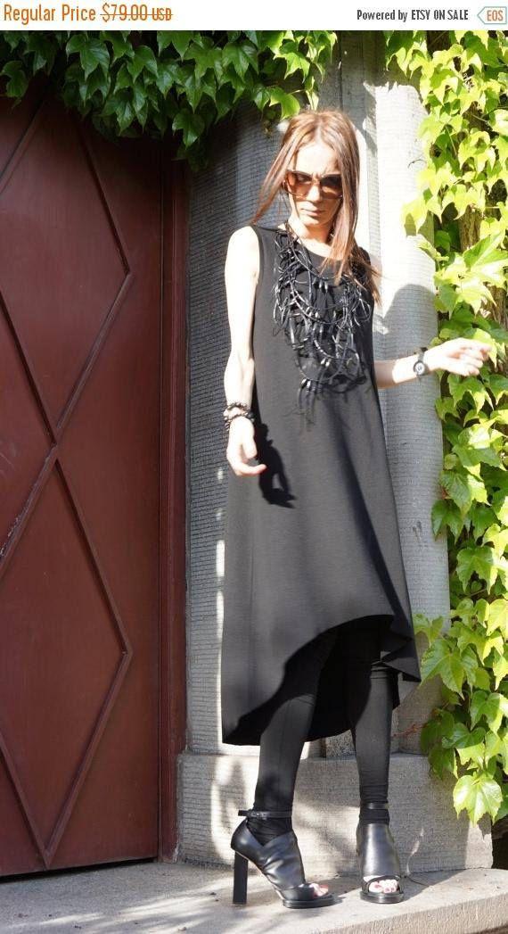 SALE Maxi Dress / Black Kaftan / Extravagant Long  Dress /
