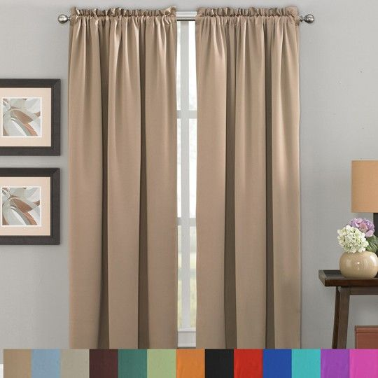 room darkening curtains blackout