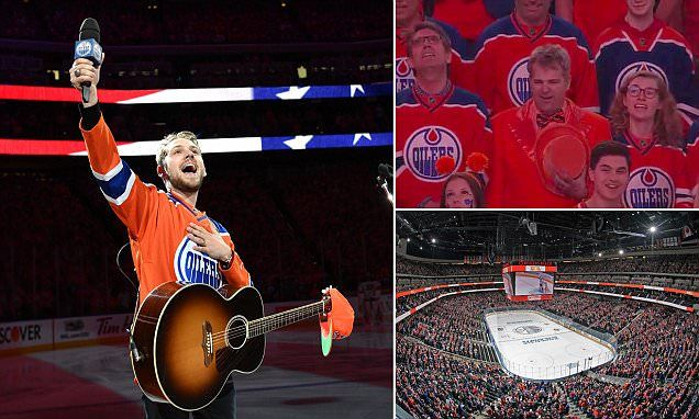 A crowd of 18,000 arrived inEdmonton for Game 3 of the Stanley Cup Playoffs on Sunday. But after a few technical issues, the packed arena all joined in to sing the Star-Spangled Banner.