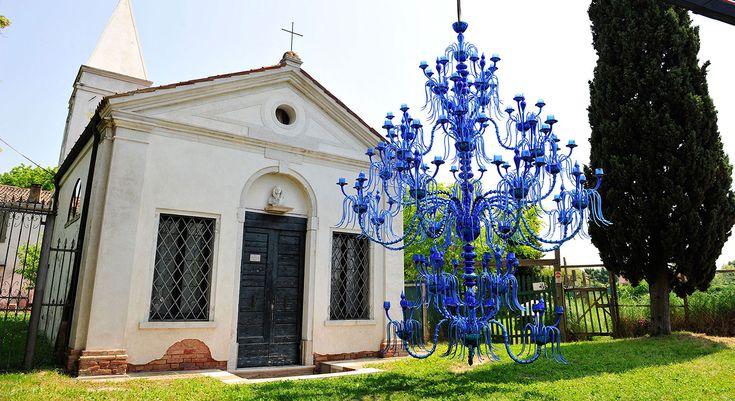 Hydroargentum. Hand made murano glass chandelier