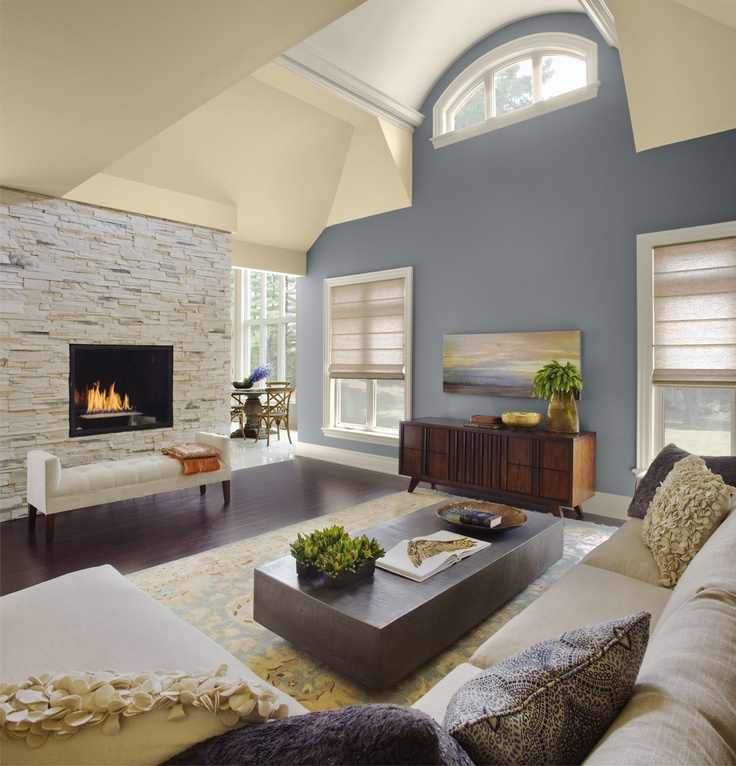 Living Room Love The Fireplace In The White Stone Wall Maybe The Tv Mounted On The Wall With The Painting Fix My Fireplace Pinterest Grey Walls